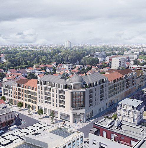 nouveau centre ville de champigny sur marne vue aérienne