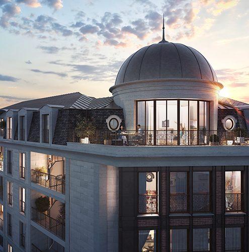 nouveau centre ville de champigny sur marne le dôme